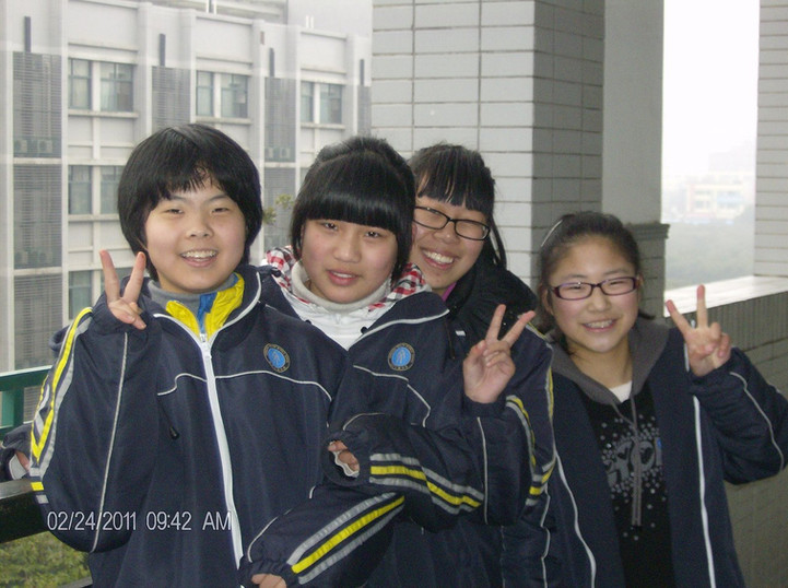 Chinese middle school students.