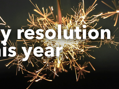 My Resolution this Year