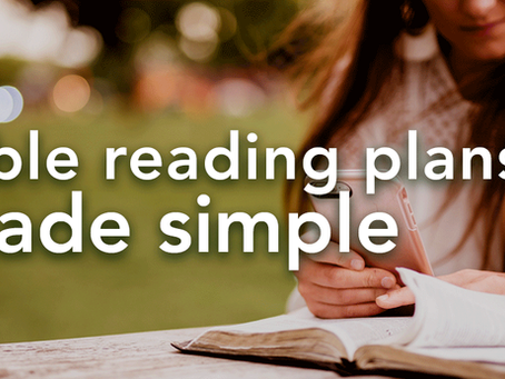 Bible Reading Plans Made Simple