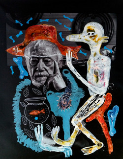 Oeuvre fusion - Peinture de William Bakaimo sur une photographie de Maurice Renoma
