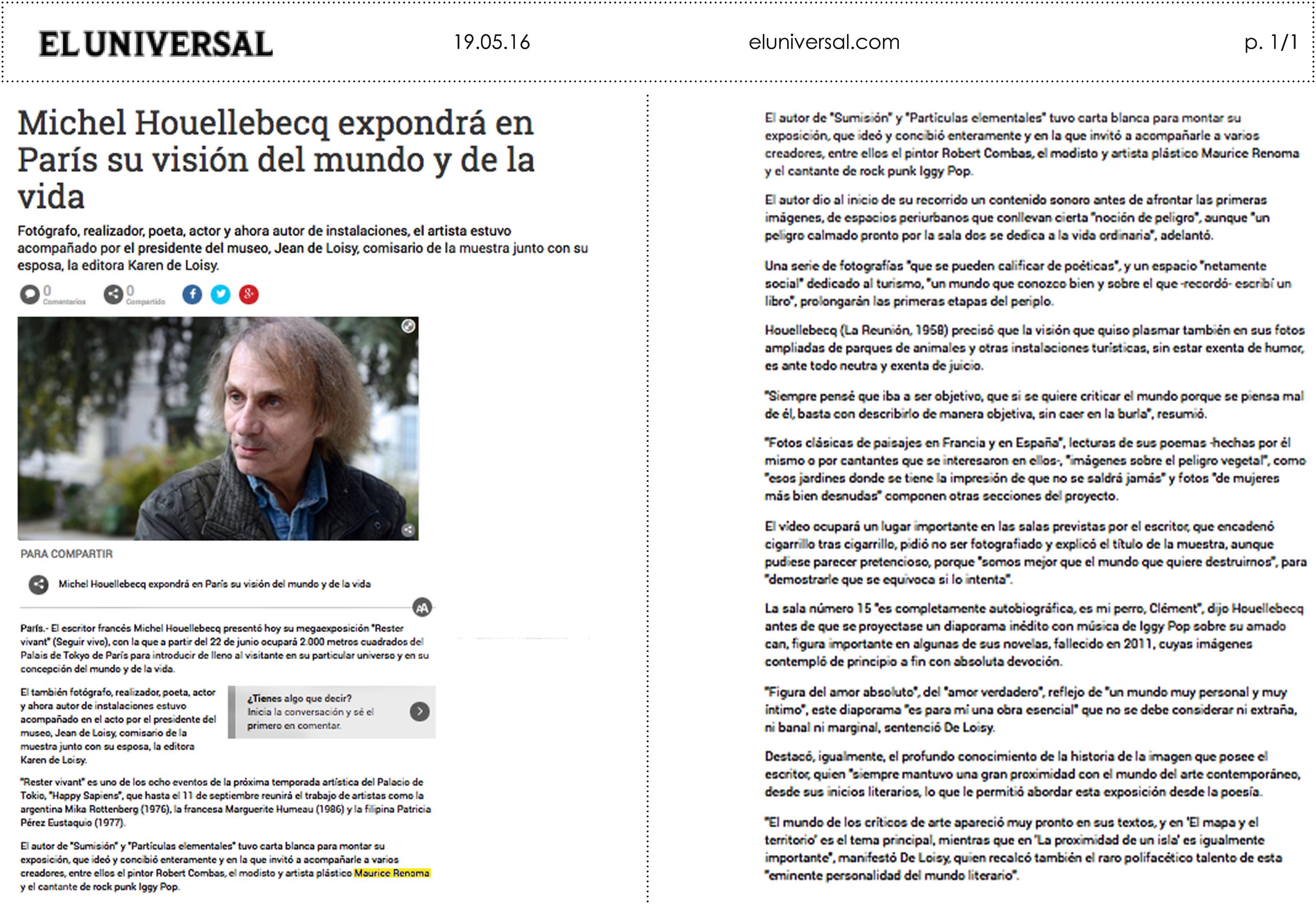 19.05.16 _ El Universal Espagne