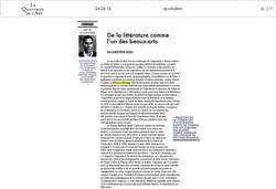 24.06.16 _ Le Quotidien de l'Art