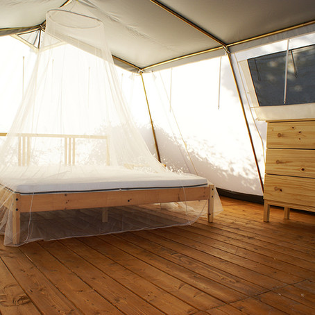 Want to camp, but don't want to rough it? Try glamping