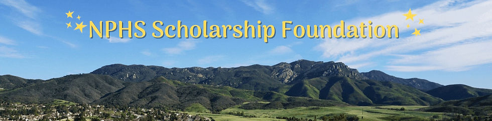 NPHS Scholarship Foundation over a picture of mountains