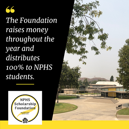 """Picture of the school, """"The Foundation raises money throughout the year and distributes 100%"""