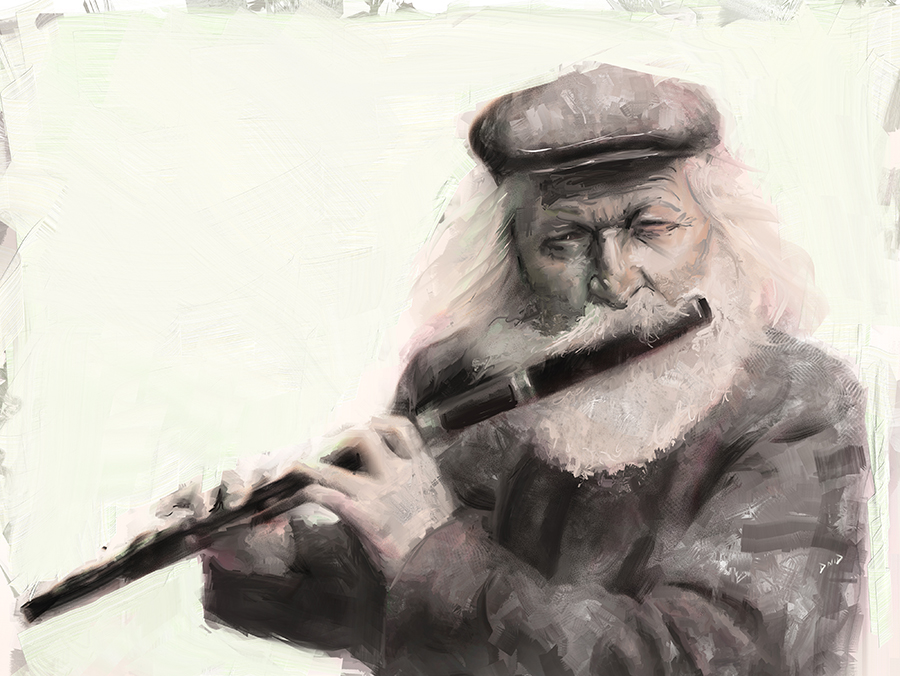 The Old Flutist