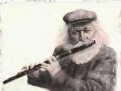 The Old Flutist