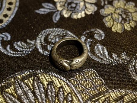 Vintage Thai Tribal Snakes Ring