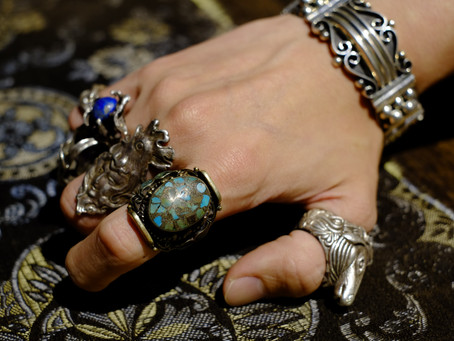 Vintage Turquoise Tibetan Ring