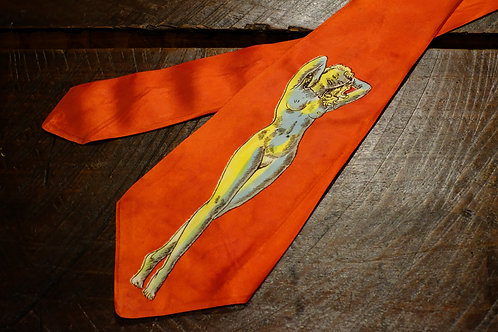 "1940's Vintage ""Lady Nude"" Hand-Painted Tie"