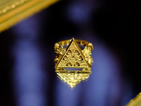 """qosmos Original Ring """"mundus"""" 14K Yellow Gold"""