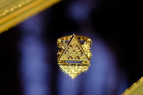 """""""mundus"""" qosmos original ring /14K Yellow Gold"""