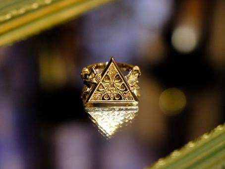 """mundus"" qosmos original ring 14K Rose Gold"