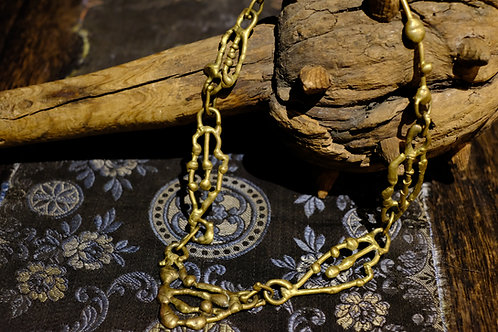 Vintage Brass Art Necklace
