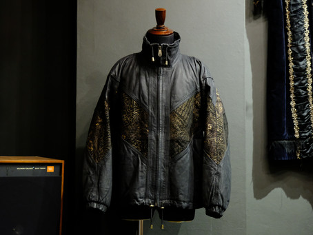 Graphic Leather Jacket