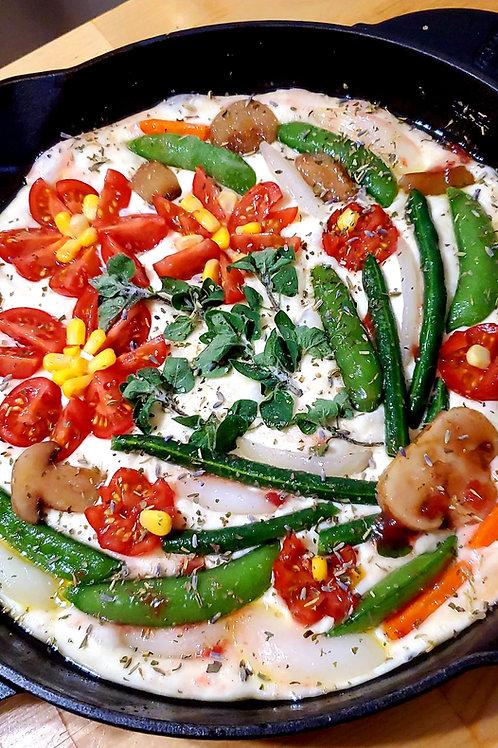 Focaccia Bread-Veggie*