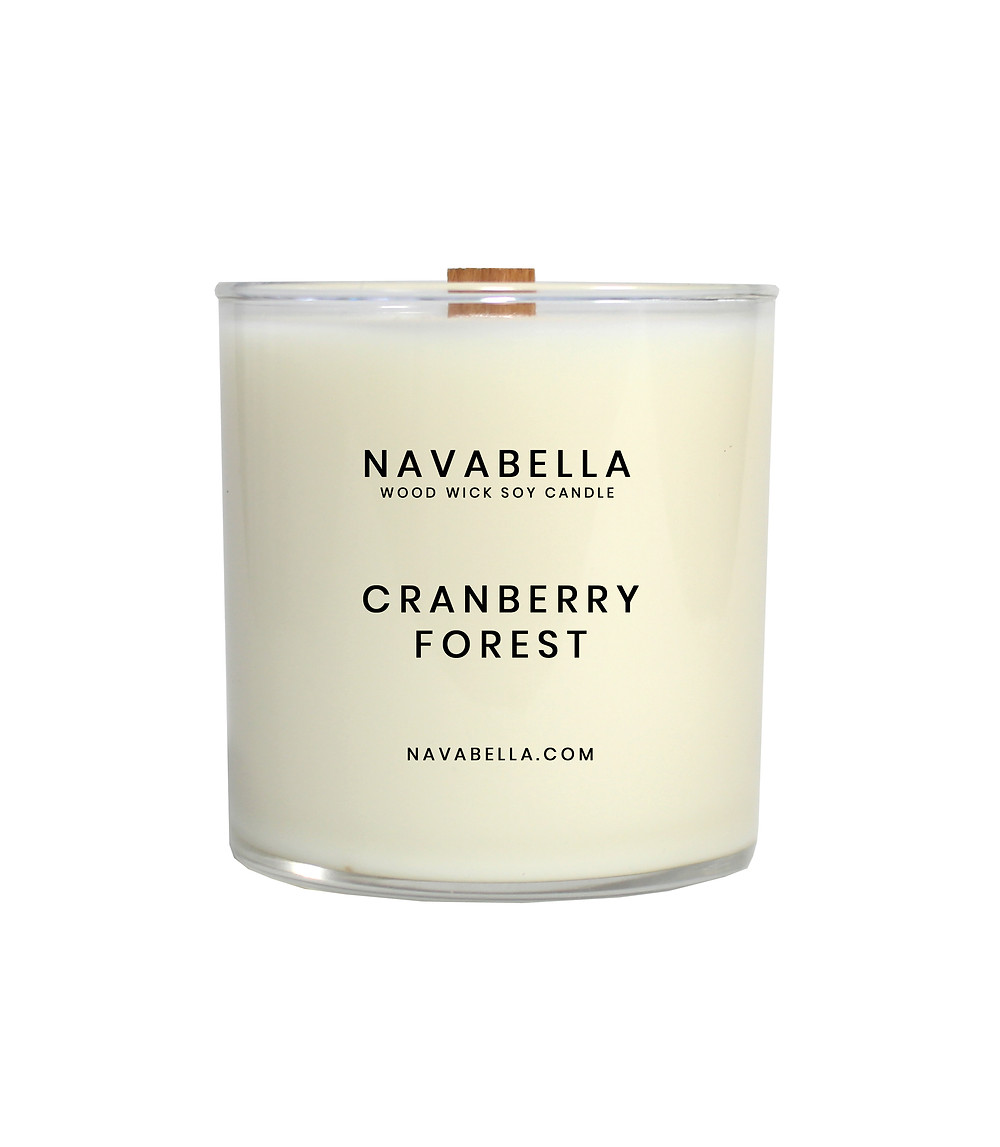 Holiday Cranberry Soy Wax Candle, Holiday Home Fragrances
