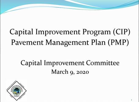 Capital Improvement Program Pavement Management Plan