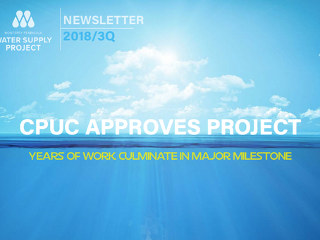 CPUC Update on the Monterey Peninsula Water Supply Project