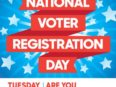 September 28th is National Voter Registration Day