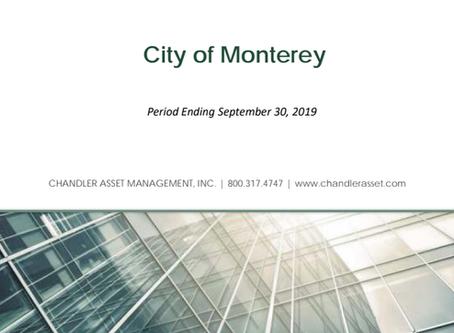 City of Monterey Chandler Asset Management Update