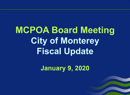 City of Monterey Fiscal Update
