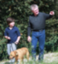 Dave and child and dog.JPG