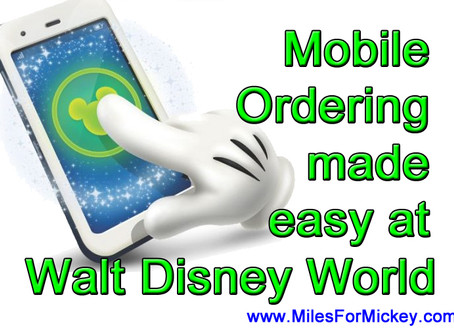 Mobile Ordering at Walt Disney World!