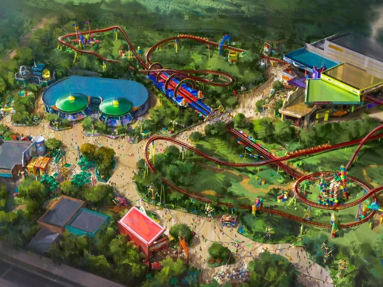 Toy Story Land layout