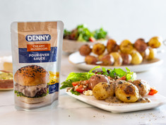 POTATO KEBABS WITH DENNY CREAMY MUSHROOM POUR-OVER SAUCE