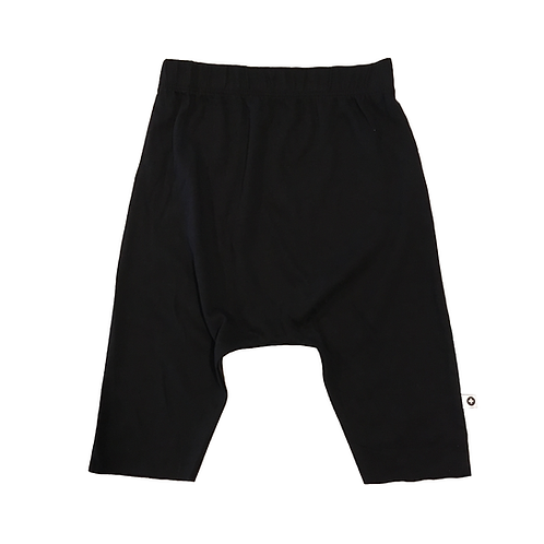 Black Brushed Jersey Drop Shorts