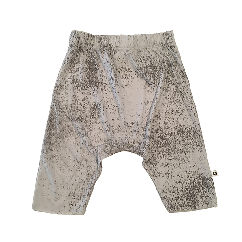 Grey Splatter Drop Shorts