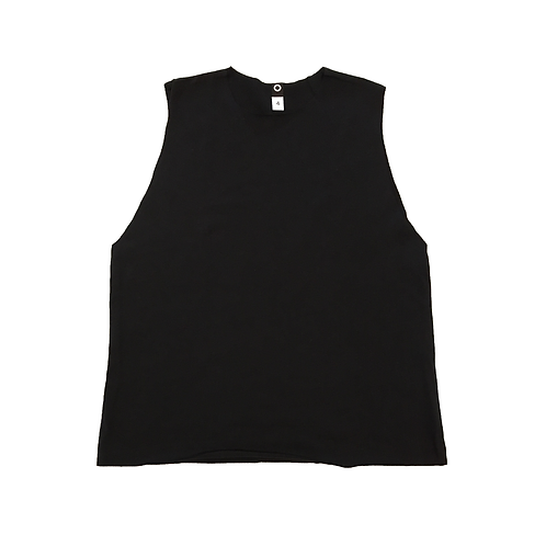 PRESALE Black Brushed Jersey Muscle Tank