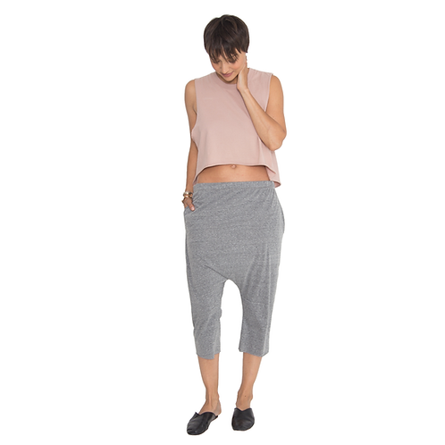 Tri-blend Grey Drop Shorts