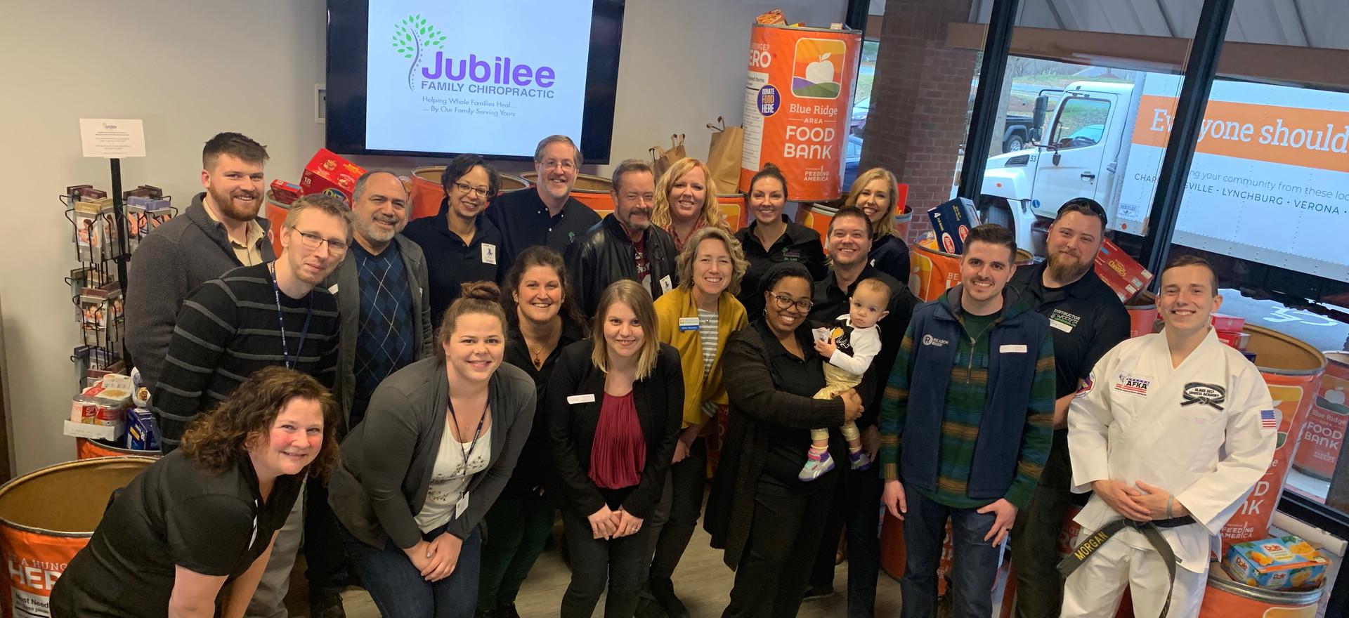 Jubilee Family Chiropractic 2020 Blue Ridge Food Drive. 002