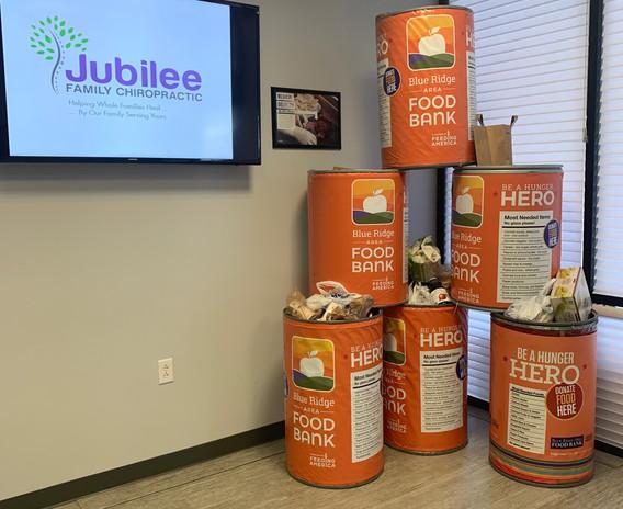 Jubilee Family Chiropractic 2020 Blue Ridge Food Drive. 008