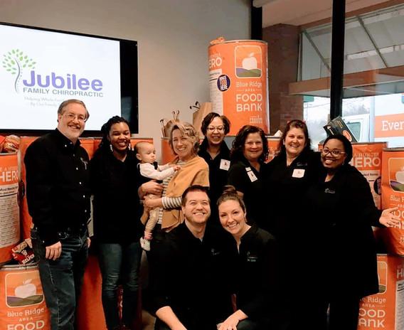 Jubilee Family Chiropractic 2020 Blue Ridge Food Drive. 003