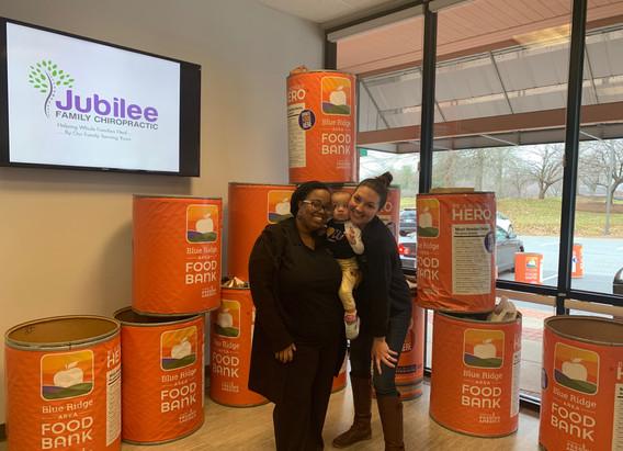Jubilee Family Chiropractic 2020 Blue Ridge Food Drive. 010
