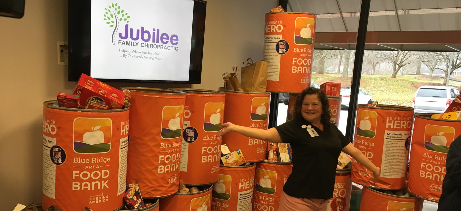 Jubilee Family Chiropractic 2020 Blue Ridge Food Drive. 011