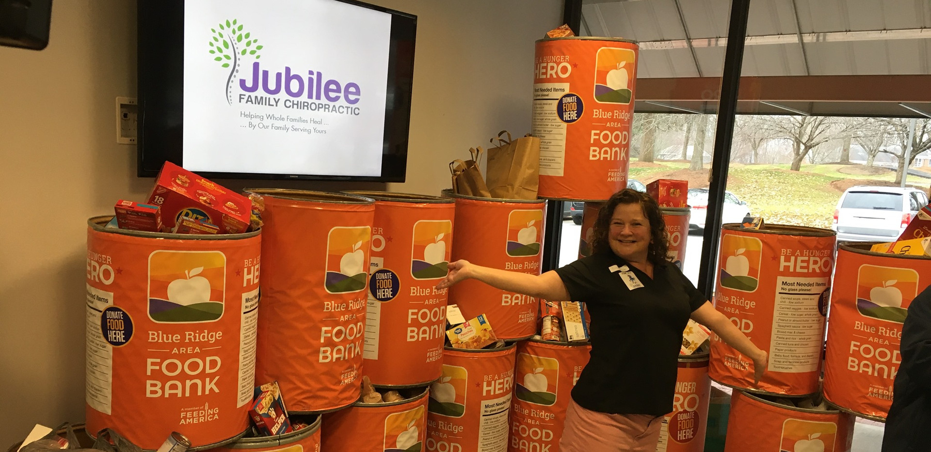 Jubilee Family Chiropractic 2020 Blue Ridge Food Drive. 011