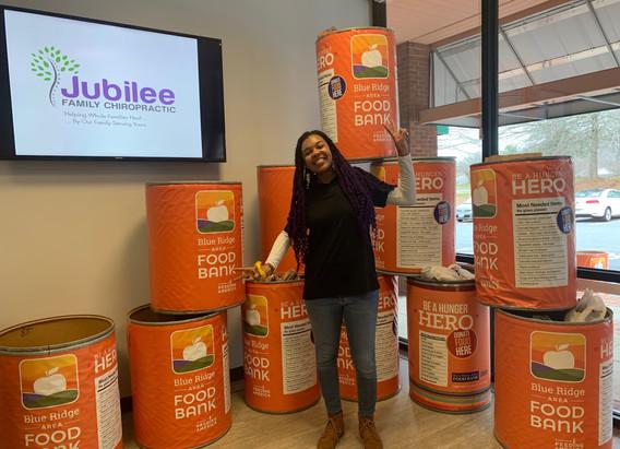 Jubilee Family Chiropractic 2020 Blue Ridge Food Drive. 012