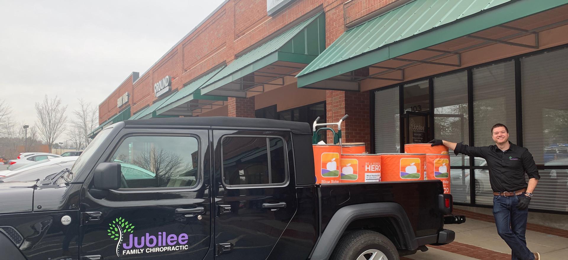 Jubilee Family Chiropractic 2020 Blue Ridge Food Drive. 006
