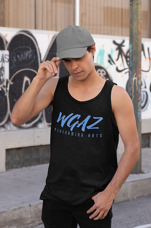 Mens Tank with Blue logo