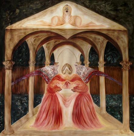 Annunciation, 2015, oil on canvas, 200 x 200 cm
