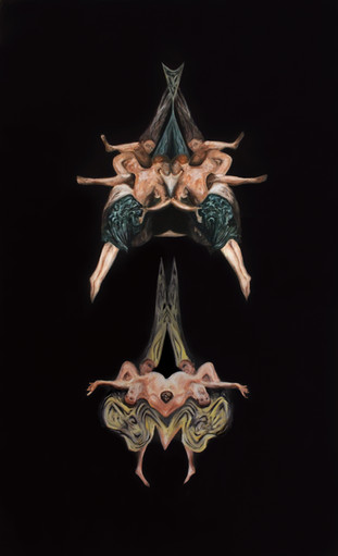 witches' fligth, 2015, oil on canvas, 200 x 135 cm