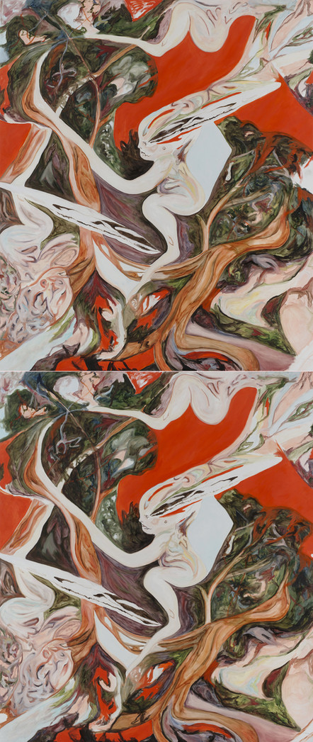 untitled, 2018, oil on canvas, diptych 200 x 340 cm