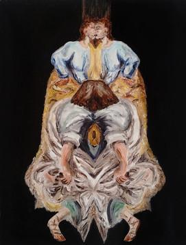 L'unica assoluzione, 2017, oil on canvas, 24 x 18 cm