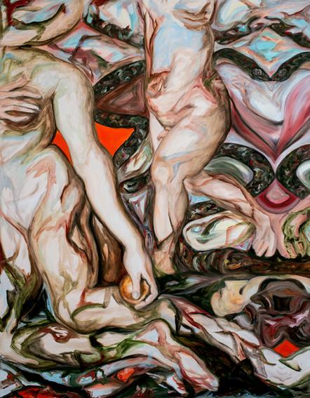 Altro Scenario, 2018, oil on canvas, 90 x 70 cm