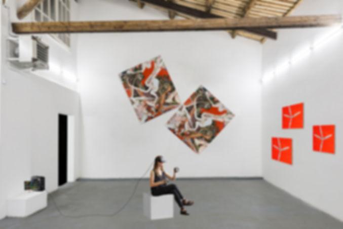 parete grande  con teschi rossi e vr 3 s