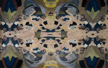L' apocalisse dell'ora,2014,oil on canvas, 200 x 340